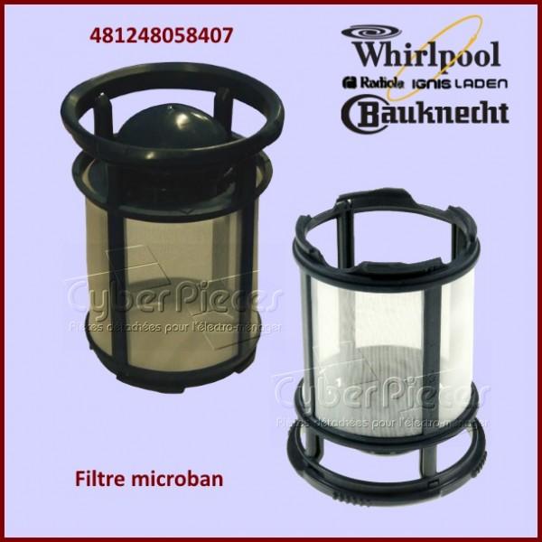 Filtre Plastique Fin Microban Whirlpool 481248058407