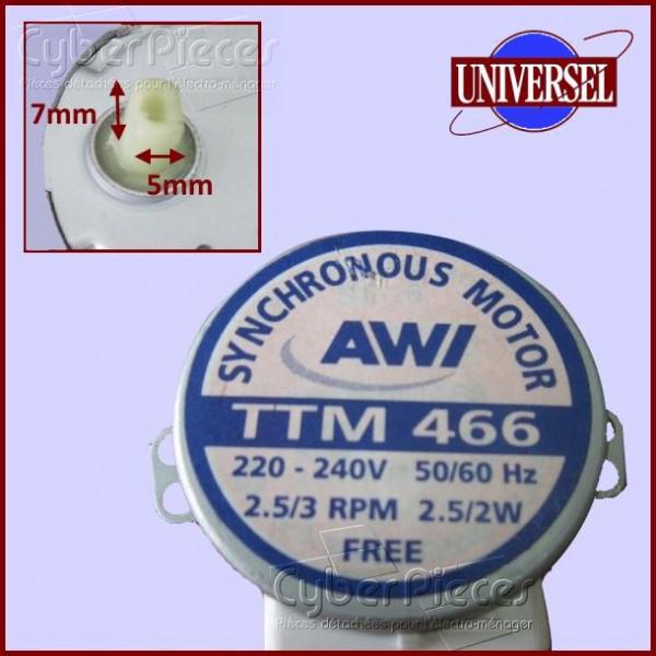 Moteur pour plateau tournant de micro-ondes TTM466 AWI