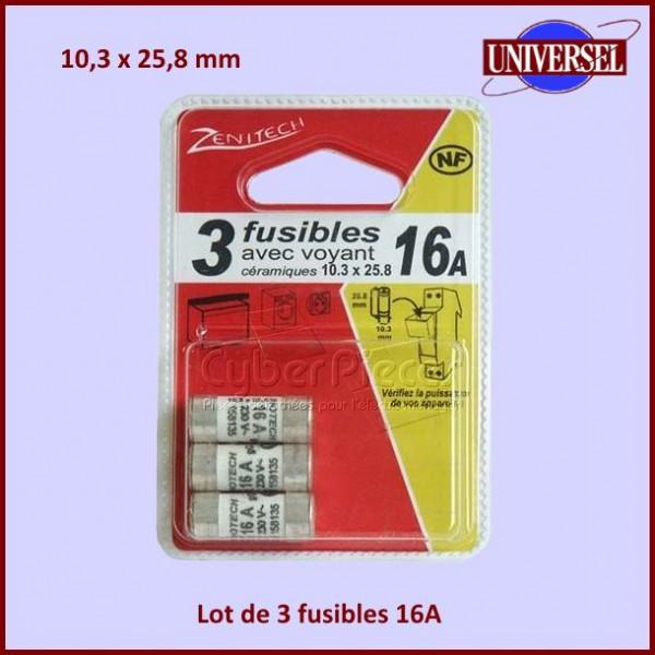 Fusible 16A - 10,3X25,8mm en céramique