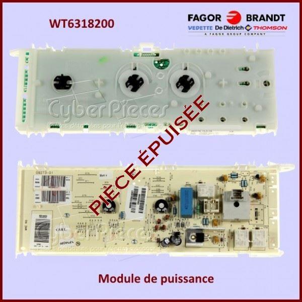 Carte de puissance Brandt WT6318200 ***Pièce epuisée***