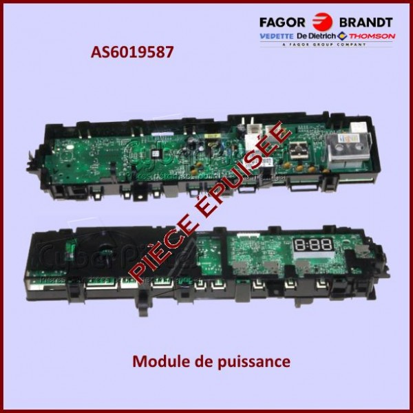 Carte de commande Brandt AS6019587***Piece epuisee***
