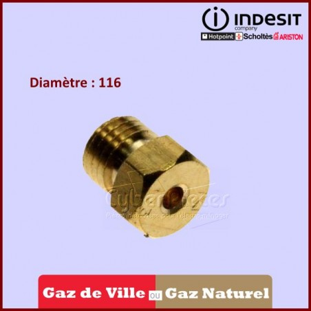Injecteur Gaz Nat. D.116  INDESIT C00052940