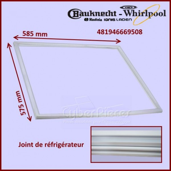Joint de porte Réfrigérateur Whirlpool  481946669508