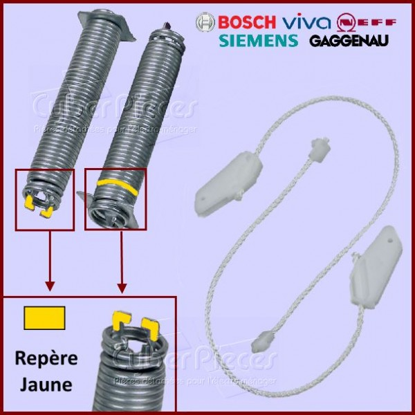Kit Ressorts + Câbles 00754865 Bosch Siemens