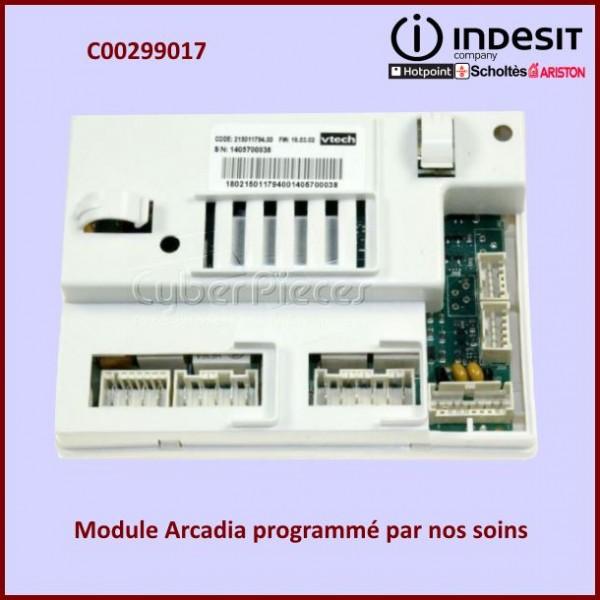 module programm arcadia indesit c00299017 pour modules electroniques machine a laver lavage. Black Bedroom Furniture Sets. Home Design Ideas