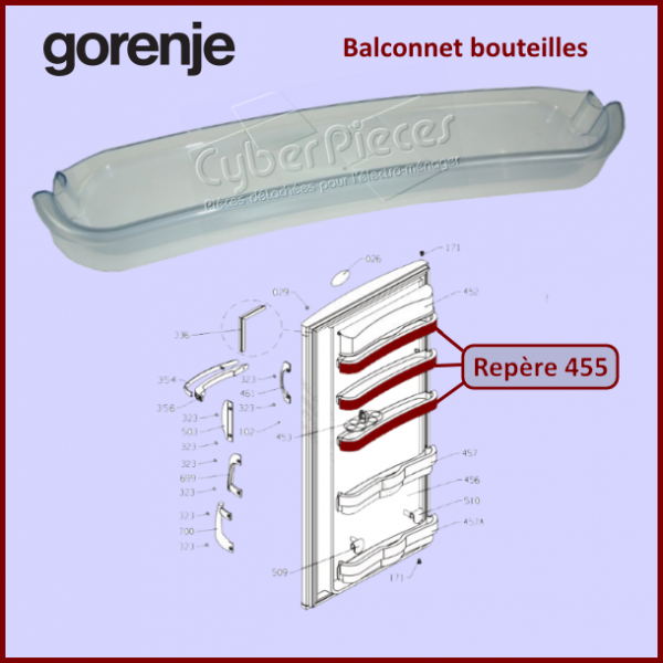 Balconnet bouteilles Gorenje 132981
