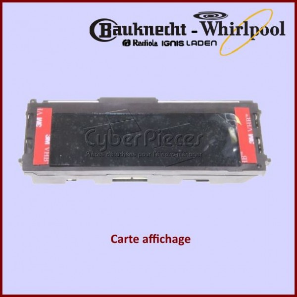 Afficheur navigateur four Whirlpool 481010487019