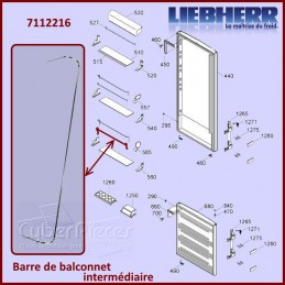 Barre Intermédiaire du Balconnet Liebherr 7112216 CYB-095815