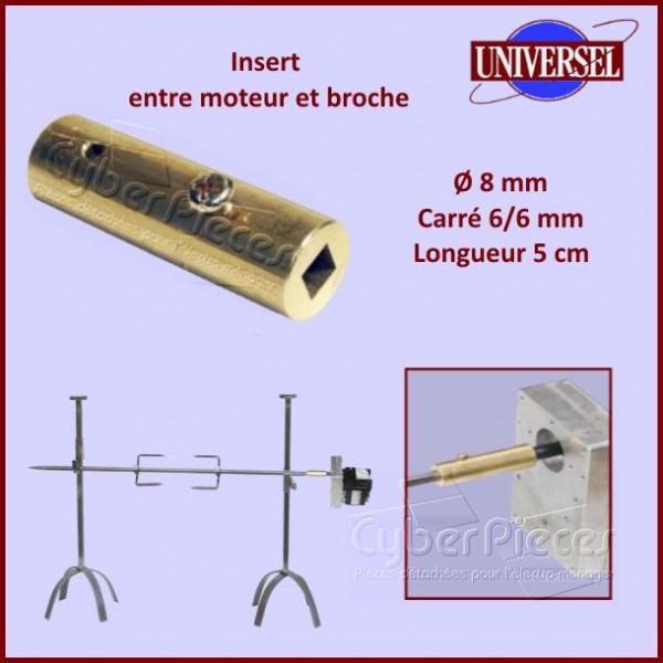 Insert de tourne-broche Ø8mm / Longueur 5cm