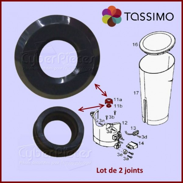 Lot de 2 joints pour Tassimo Braun 67050788