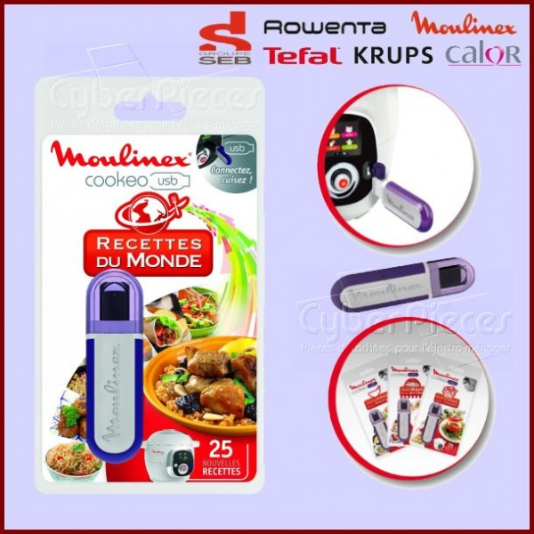 Clé USB Cookeo - Recettes du Monde Seb XA600111