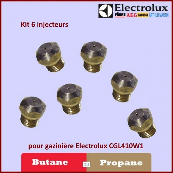 kit injecteur butane propane pour gazini re electrolux cgl410w1 pour injecteurs buses fours. Black Bedroom Furniture Sets. Home Design Ideas
