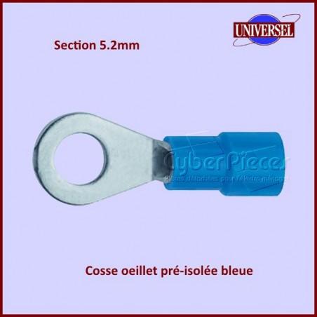 Cosse oeillet pré-isolée bleue - Section 5.2mm