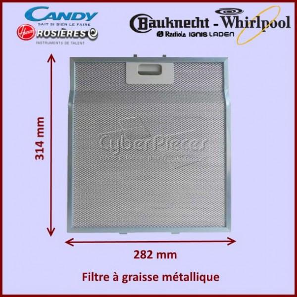 Filtre à graisse en métal Whirlpool 481248058334
