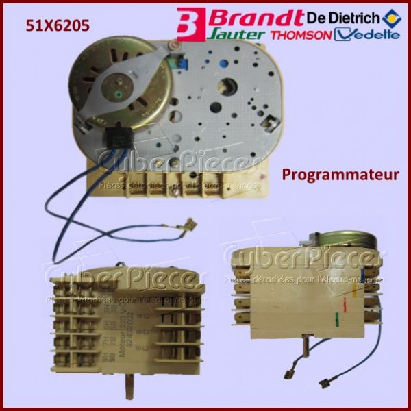 programmateur brandt 51x6205 pour machine a laver lavage. Black Bedroom Furniture Sets. Home Design Ideas