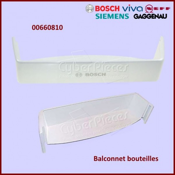Balconnet bouteilles inférieur Bosch 00660810
