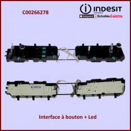 Interface à bouton + Led (inox) Indesit C00266278 CYB-014021