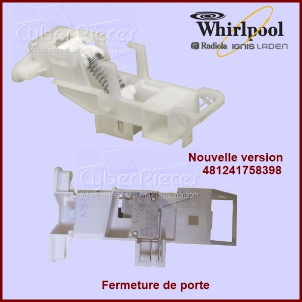 Verrouillage de porte Whirlpool 481241758398