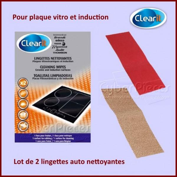 Lingettes nettoyantes plaques vitrocéramiques Clearit 71X5027 CYB-237307