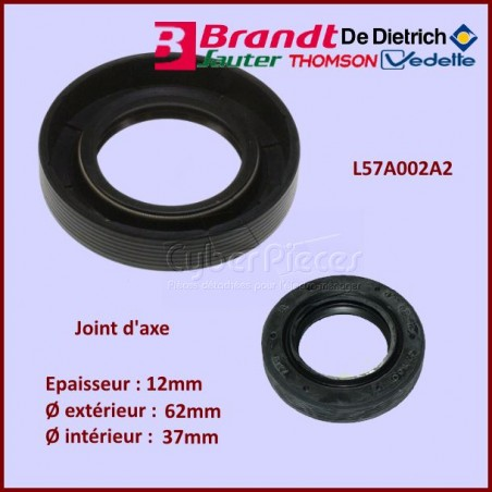 Joint d'axe 62x37x12mm Brandt L57A002A2