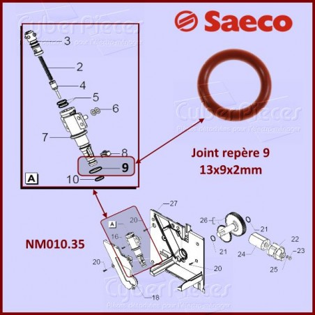 Joint silicone SAECO NM01035