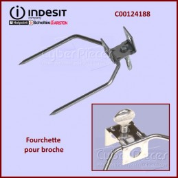 Fourchette pour broche Indesit C00124188 CYB-333429