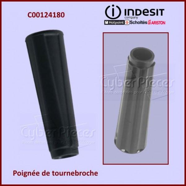 Poignée noire de tourne broche Indesit C00124180