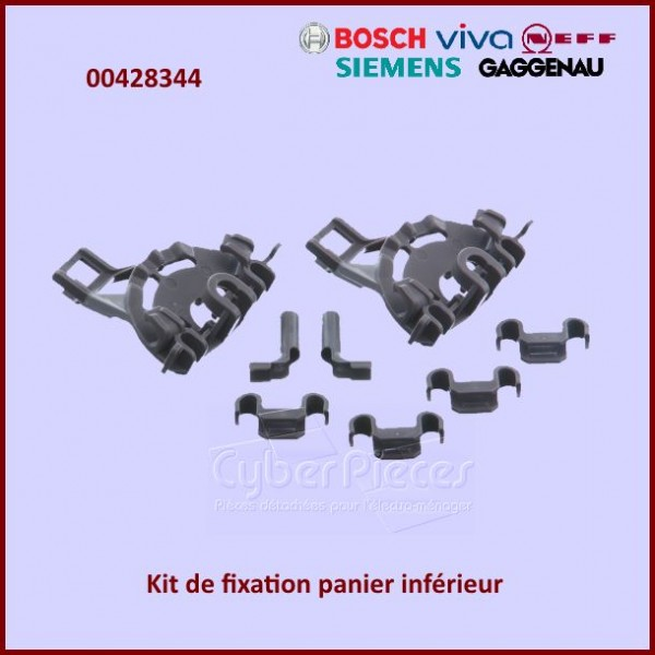 Jeu de fixation du panier inférieur Bosch 00428344