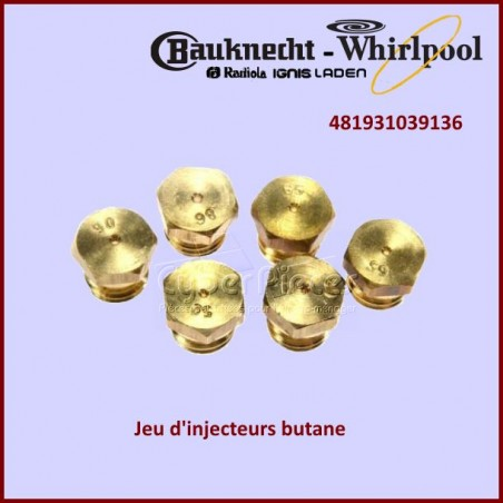 Kit injecteurs Butane Propane Whirlpool 481931039136
