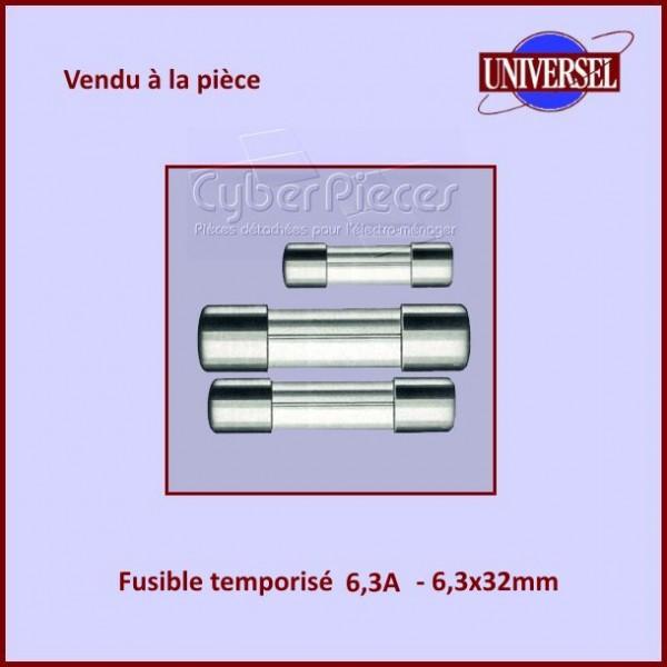 Fusible 6,3A Temporisé 6x32mm en verre