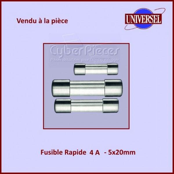Fusible 4A Rapide 5x20mm en verre