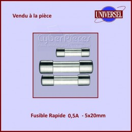 Fusible 0.5A Rapide 5x20mm...