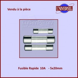 Fusible 10A Rapide 5x20mm...