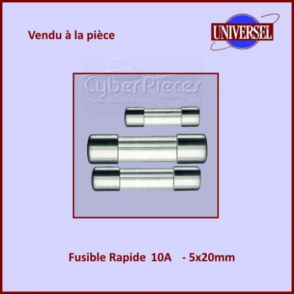 Fusible 10A Rapide 5x20mm en verre