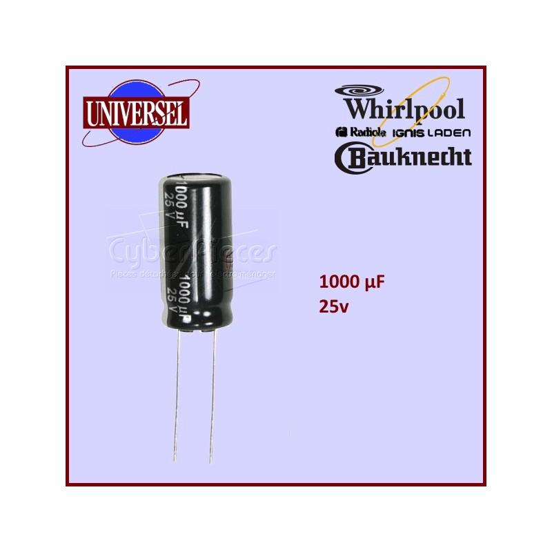 Condensateur 1000.0µF (1000.0MF) - 25 Volts maxi.