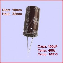 Condensateur 100,0µF (100,0MF) - 400V maxi. CYB-189873