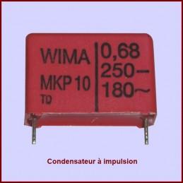 Condensateur à impulsion 0,68µF (0,68mF) - 250V maxi. CYB-209557