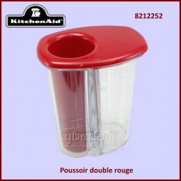 Poussoir double rouge...