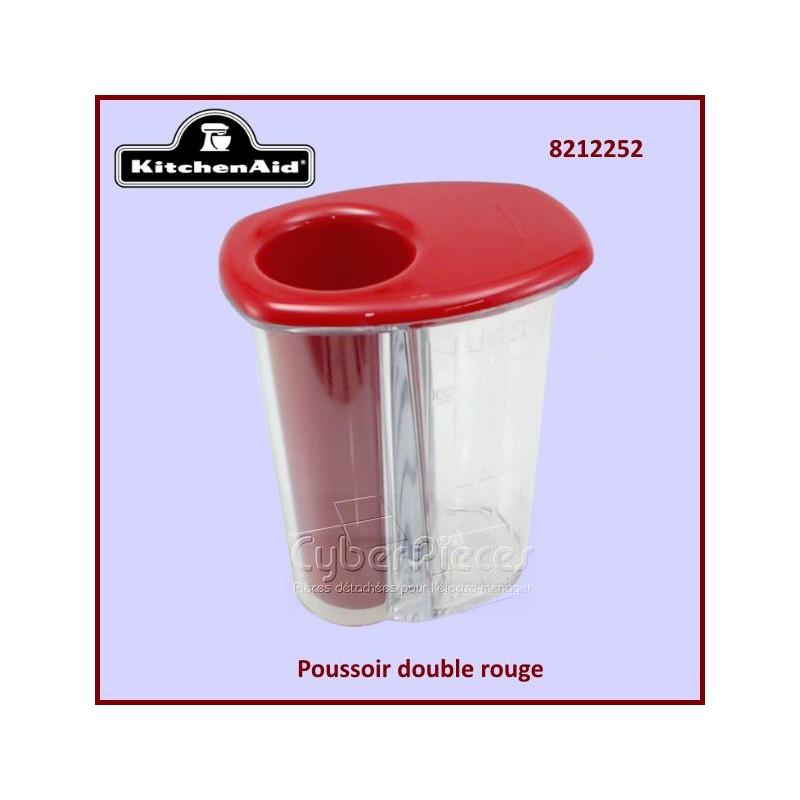 Poussoir double rouge KFP7DPER Kitchenaid 8212252