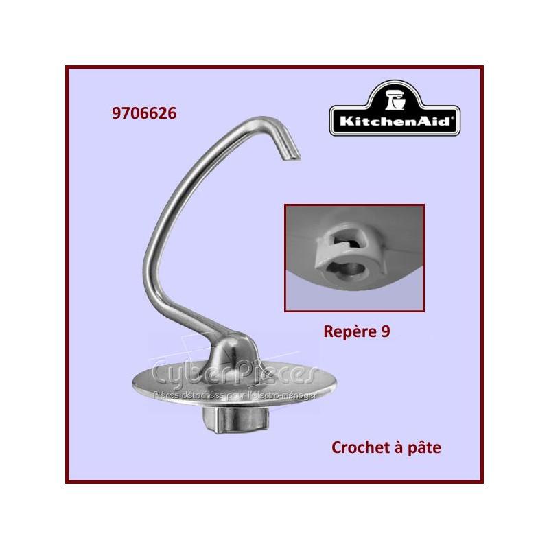 Crochet à pâte aluminium K45BDH Kitchenaid 9706626 /E5-5
