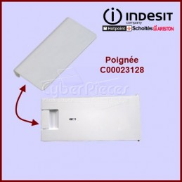 Poignée blanche freezer Indesit C00023128 CYB-046534