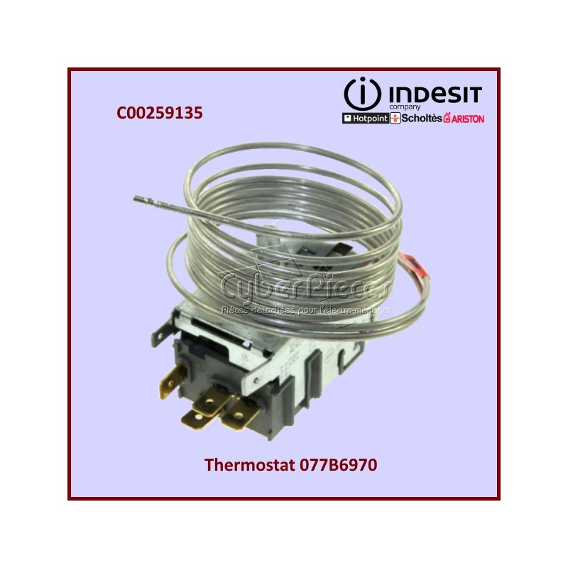 Thermostat 077B6970 INDESIT C00259135