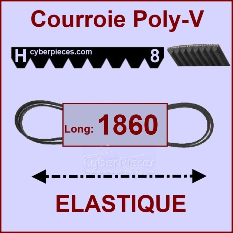 Courroie 1860H8 - EL - élastique