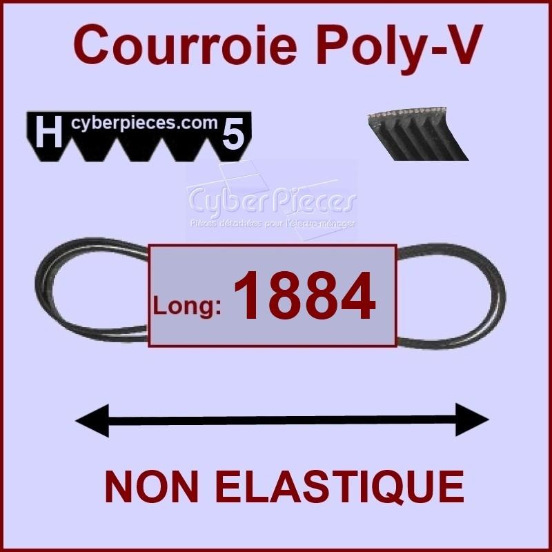 Courroie 1884 H5 non élastique
