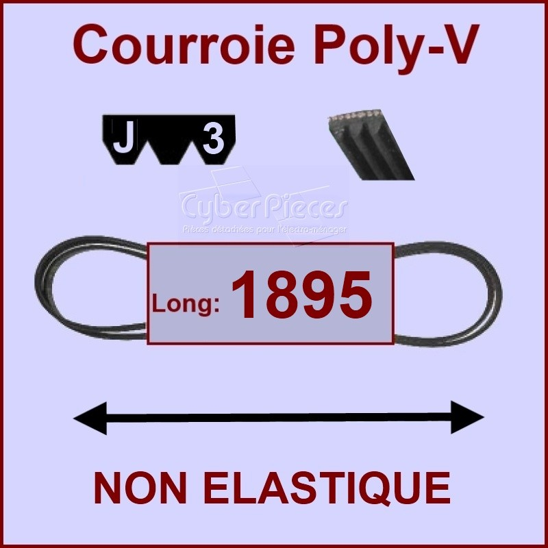 Courroie 1895J3 non élastique (LW1895)