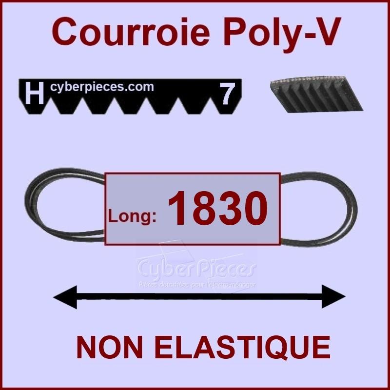 Courroie 1830 H7 non élastique