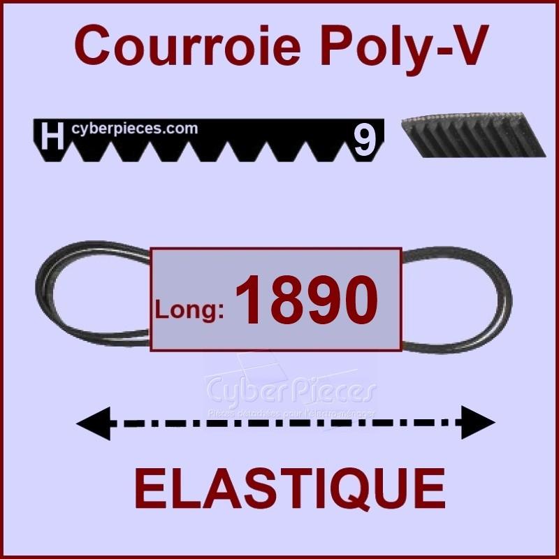 Courroie 1890 H9 - EL- élastique
