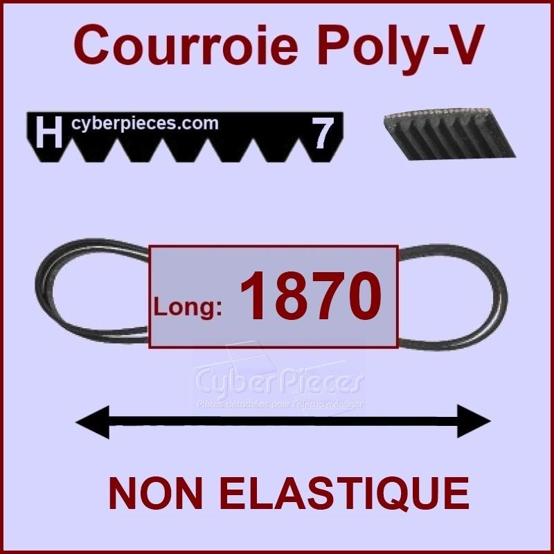 Courroie 1870H7 non élastique