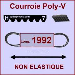 Courroie 1992H7 non élastique
