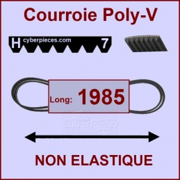 Courroie 1985H7 non élastique